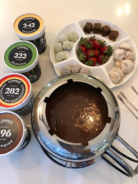 fondue sorvete