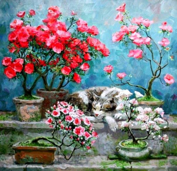 pintura gato flores.jpg