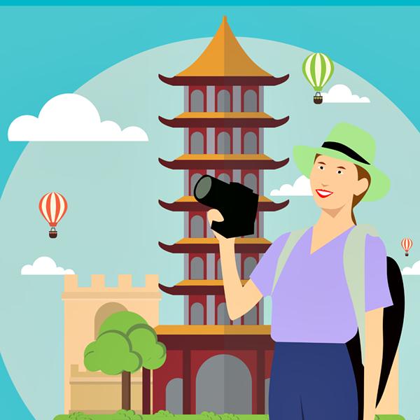 turista viagem desenho pixabay