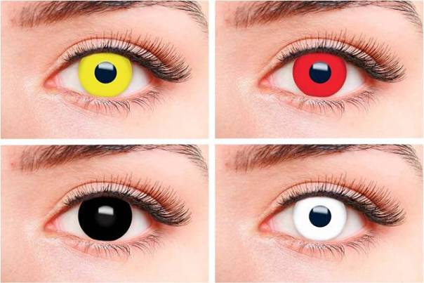 lentes fantasia coloridas