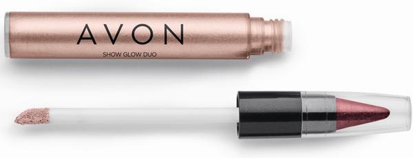 Avon Show Glow Dua Sombra Caramelo e Vinho Reluzente