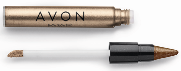 Avon Show Glow Dua Sombra Nude e Marrom Iluminado
