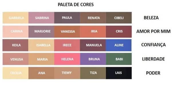 cores paletas