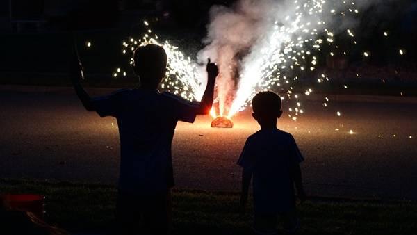 fogos de artificio e crianças pixabay