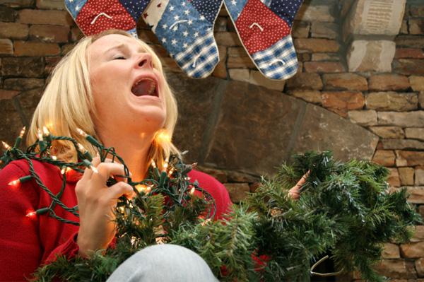 mulher estressada natal