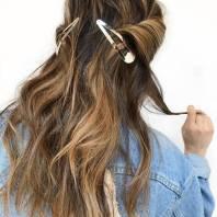 cabelos fivelas pinterest