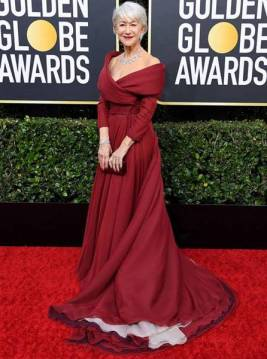 golden-globes-red-carpet- helen mirren - getty images