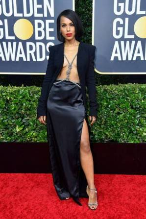 golden-globes-red-carpet- kerry washington = getty images