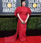golden-globes-red-carpet- olivia colman - getty images