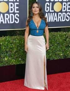 golden-globes-red-carpet- salma hayek - getty images