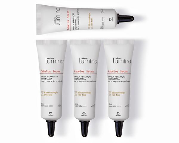 Natura Lumina Ampola reparação instantânea para cabelos secos