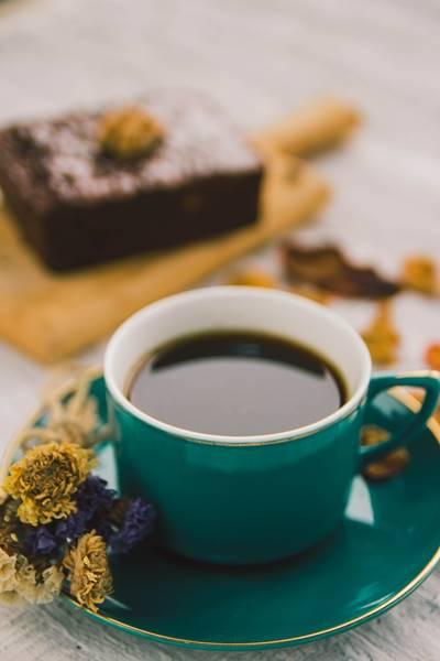 bolo com café