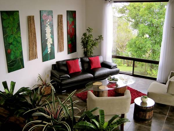 Decor sala com plantas