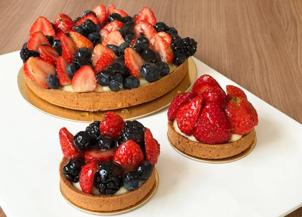 torta frutas vermelhas