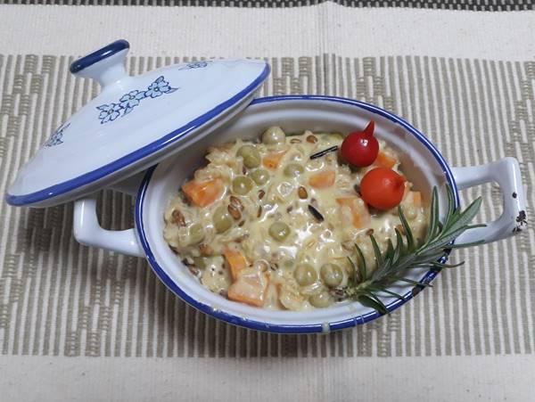 arroz ervilha vegetariano