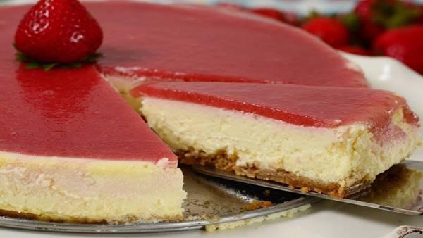 cheesecake morango strawberry