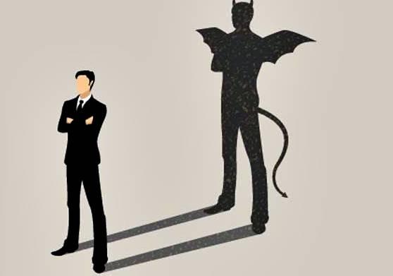 imagem sombra homem demonio