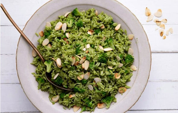 arroz com brocolis