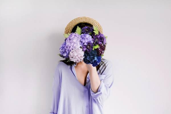 autorretrato selfie design. meliora por Pixabay flores hortencias