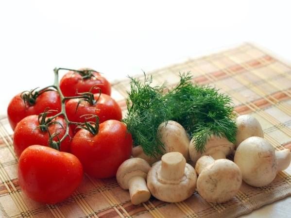 tomate cogumelos champignon