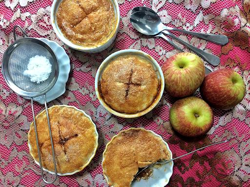 tortinha de maçã cozinha travessa