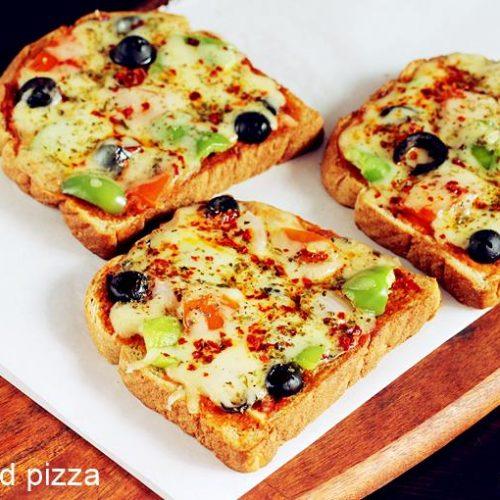 pizza pao de forma swasthi's recipes