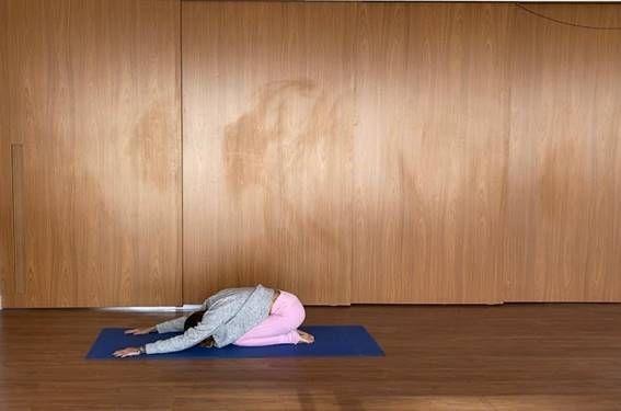 yoga postura da criança