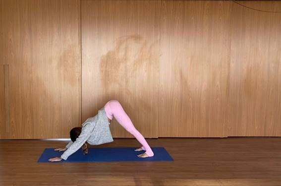 yoga postura do cachorro olhando pra baixo