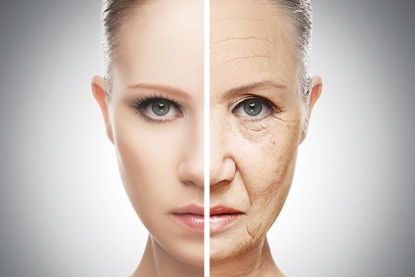 envelhecimento pele mulher
