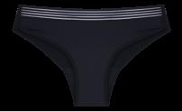HOPE Flow - calcinha absorvente boyshort com elástico fluxo moderado preto -