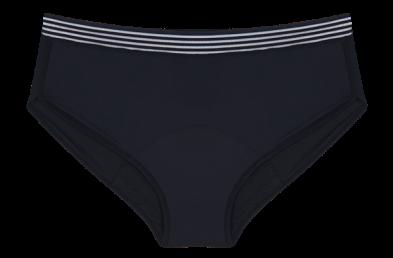 HOPE Flow - Calcinha absorvente cintura alta - Fluxo Noturno preto -